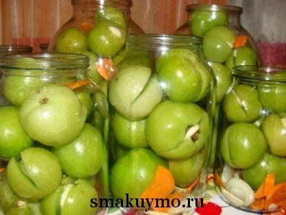 Зеленые томаты на зиму рецепты с фото